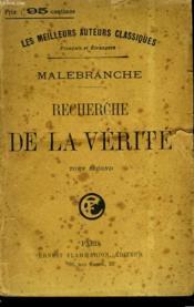 Recherche De La Verite. Tome 2. - Couverture - Format classique