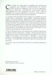 L'Explication De Textes Latins Agregation Capes Chartes E.N.S. - 4ème de couverture - Format classique