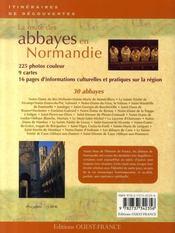 La route des abbayes en normandie - 4ème de couverture - Format classique