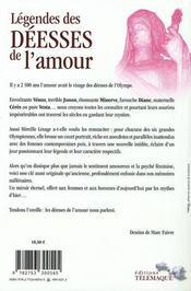 Légendes des déesses de l'amour - 4ème de couverture - Format classique