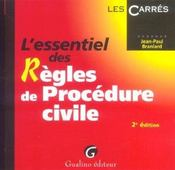 Essentiel Des Regles De Procedure Civile, 2eme Edition (L') - Intérieur - Format classique
