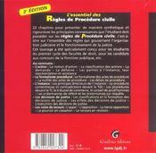 Essentiel Des Regles De Procedure Civile, 2eme Edition (L') - 4ème de couverture - Format classique
