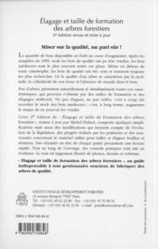 Elagage Et Taille De Formation Des Arbres Forestiers (3. Ed.) - 4ème de couverture - Format classique