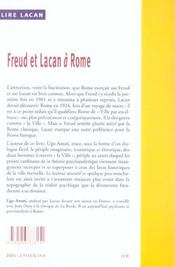 Freud Et Lacan A Rome - 4ème de couverture - Format classique