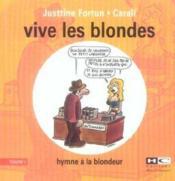 Vive les blondes t.1 - Couverture - Format classique