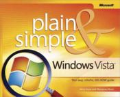 Vente livre :  Microsoft Windows Vista Plain and Simple  - Marianne Moon