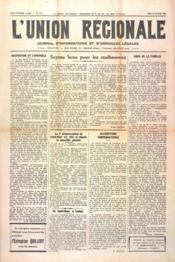 Union Regionale (L') N°1117 du 25/01/1940 - Couverture - Format classique