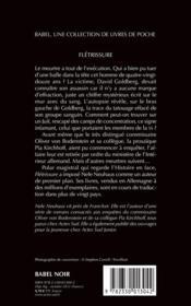 Flétrissure - 4ème de couverture - Format classique