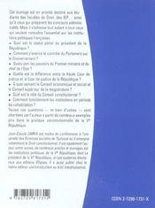 Les Institutions Politiques Francaises 2e Edition - 4ème de couverture - Format classique