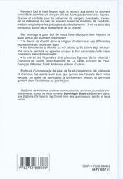 Les Saints De La Solidarite Et De La Charite - 4ème de couverture - Format classique
