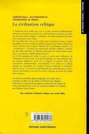 La Civilisation Celtique - 4ème de couverture - Format classique
