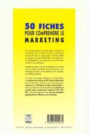 50 fiches pour comprendre le marketing - 4ème de couverture - Format classique