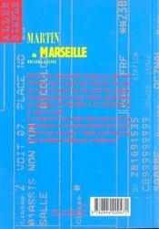 Martin De Marseille - 4ème de couverture - Format classique