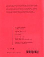 La tomate, le jardinier et le cornichon - 4ème de couverture - Format classique
