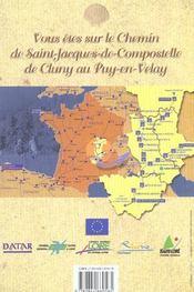 **Les Chemins De St Jacques De Compostellede Cluny Au Puy - 4ème de couverture - Format classique