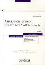 Assurances et droit des régimes matrimoniaux - Intérieur - Format classique