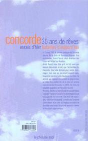 Concorde ; essais et batailles ; 30 ans de rêve - 4ème de couverture - Format classique