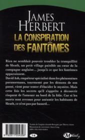 La conspiration des fantômes - 4ème de couverture - Format classique