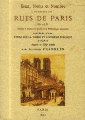 Estat, noms et nombre de toutes les rues de paris en 1636 - Couverture - Format classique