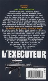 L'exécuteur t.300 ; le réseau Phoenix - 4ème de couverture - Format classique