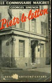 Pietr-Le Letton. - Couverture - Format classique