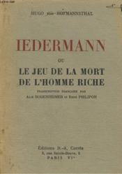 IEDERMANN ou LE JEU DE LA MORT DE L'HOMME RICHE. - Couverture - Format classique