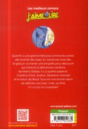 Le piège de la rose noire - 4ème de couverture - Format classique