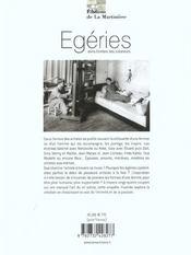Egeries, dans l'ombre des createurs - 4ème de couverture - Format classique