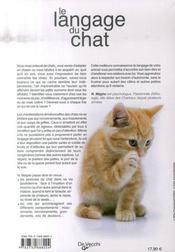 Le langage du chat - 4ème de couverture - Format classique