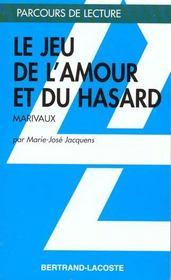 Le jeu de l'amour et du hasard, de Marivaux - Intérieur - Format classique