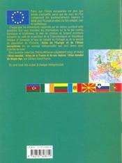 Atlas De L'Europe Et De L'Union Europeenne - 4ème de couverture - Format classique