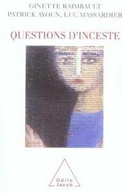 Questions d'inceste - Intérieur - Format classique