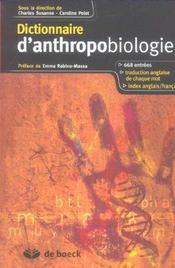 Dictionnaire d'anthropobiologie - Intérieur - Format classique