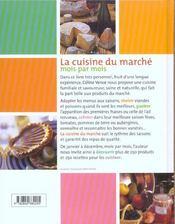 La cuisine du marche de Céline - 4ème de couverture - Format classique