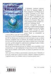 Dossier Atlantide - Le Continent Englouti - 4ème de couverture - Format classique