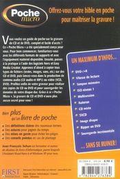 Poche micro gravure cd et dvd - 4ème de couverture - Format classique
