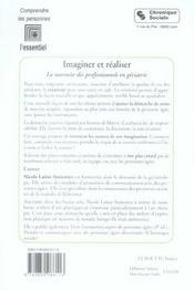 Imaginer Et Realiser-Marmite Des Professionnels En Geriatrie - 4ème de couverture - Format classique