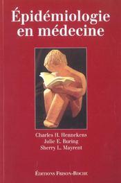 Epidemiologie En Medecine - Intérieur - Format classique