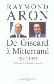 De giscard a mitterrand 1977-1983 - Intérieur - Format classique