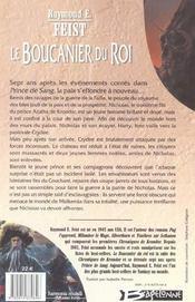 Le boucanier du roi - 4ème de couverture - Format classique