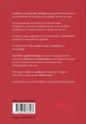 L'arthrose et sa solution ; l'arthrose n'est pas une maladie - 4ème de couverture - Format classique