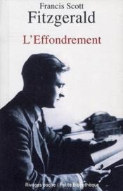 Vente  L'effondrement  - Francis Scott Fitzgerald