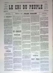 Cri Du Peuple (Le) N°63 du 03/05/1871 - Couverture - Format classique