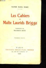 Les Cahiers De Malte Laurids Brigge - Couverture - Format classique