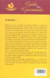 Guide Des Gourmands (edition 2006) - 4ème de couverture - Format classique