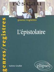 L'Epistolaire Genres/Registres - Intérieur - Format classique