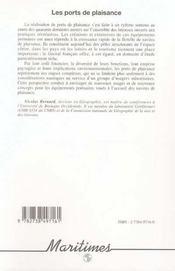 Les Ports De Plaisance ; Equipements Structurants De L'Espace Littoral - 4ème de couverture - Format classique