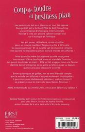 Coup De Foudre Et Business Plan - 4ème de couverture - Format classique