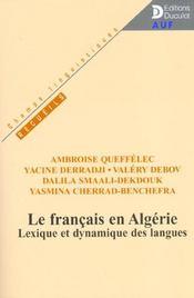 Le Francais En Algerie Lexique Et Dynamique Des Langues - Intérieur - Format classique