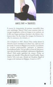 Traversées ; anthologie poétique - 4ème de couverture - Format classique